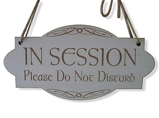 En sesión no molestar cartel de madera Shabby placa de ...