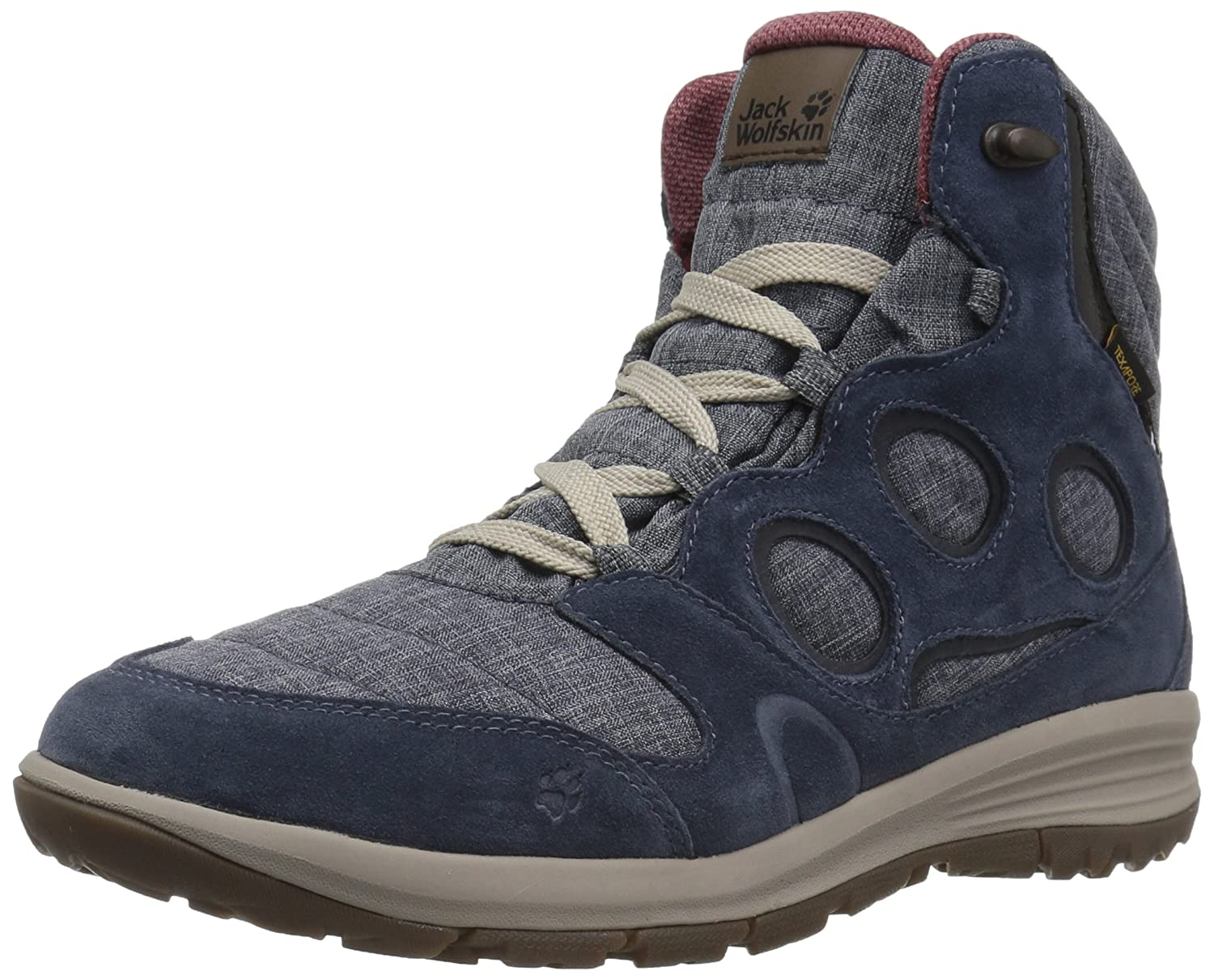 Jack Wolfskin Women's Vancouver Texapore Mid W Fashion Boot B01LBA8VRG 6.5 D US|Night Blue