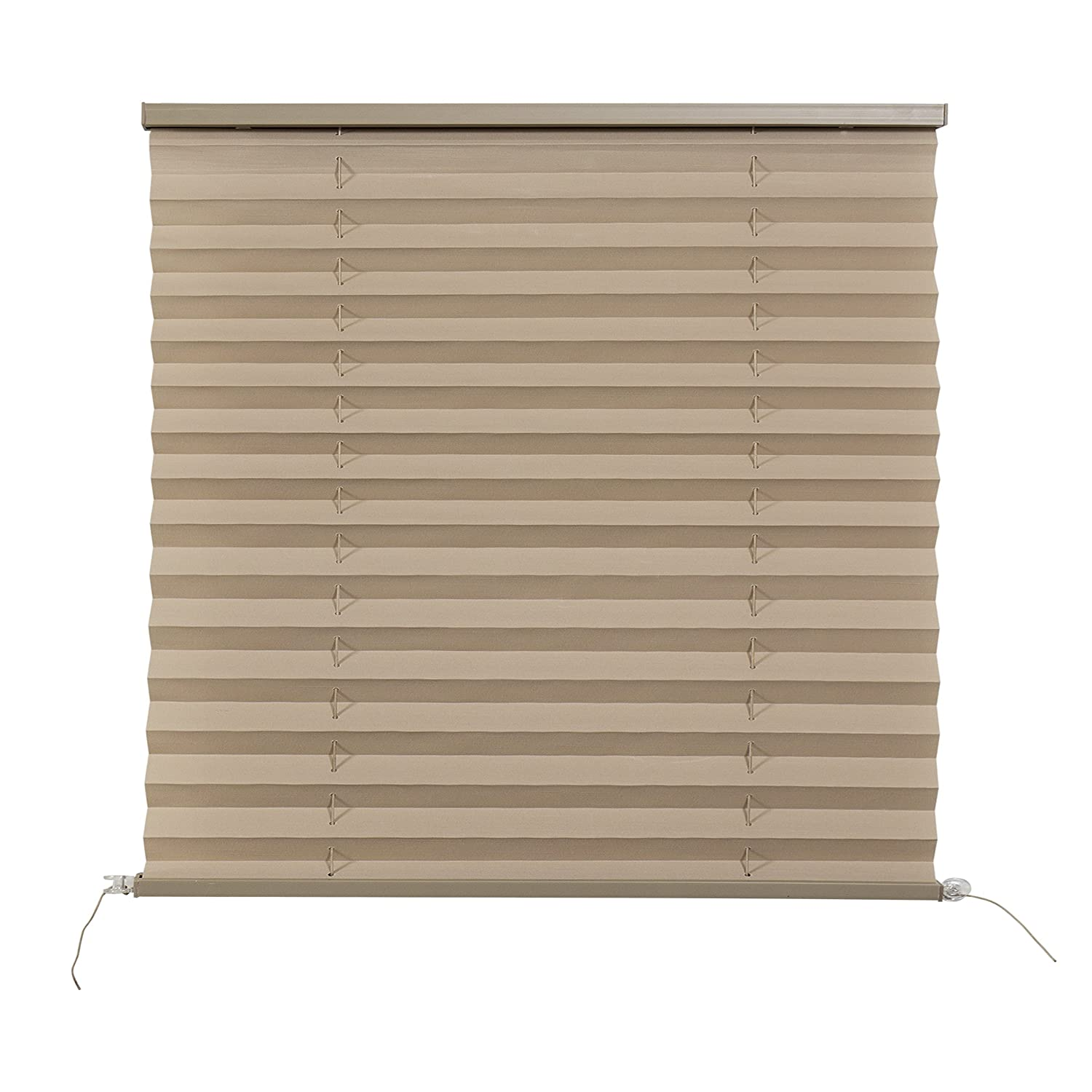 RV Camper Pleated Blind Shades Cappuccino (38'x38') RecPro