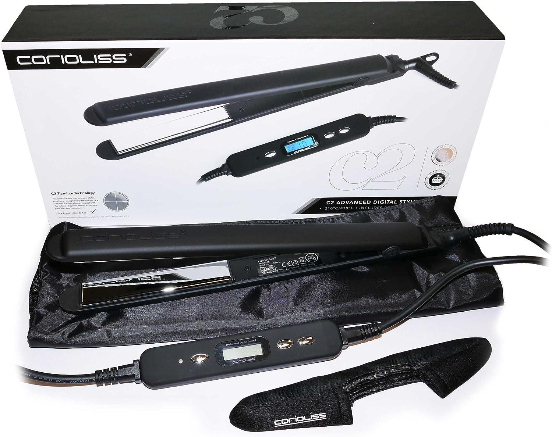 Corioliss C2 Black Soft Touch - Plancha de pelo profesional, tecnología de  titanio, Negro: Amazon.es: Salud y cuidado personal