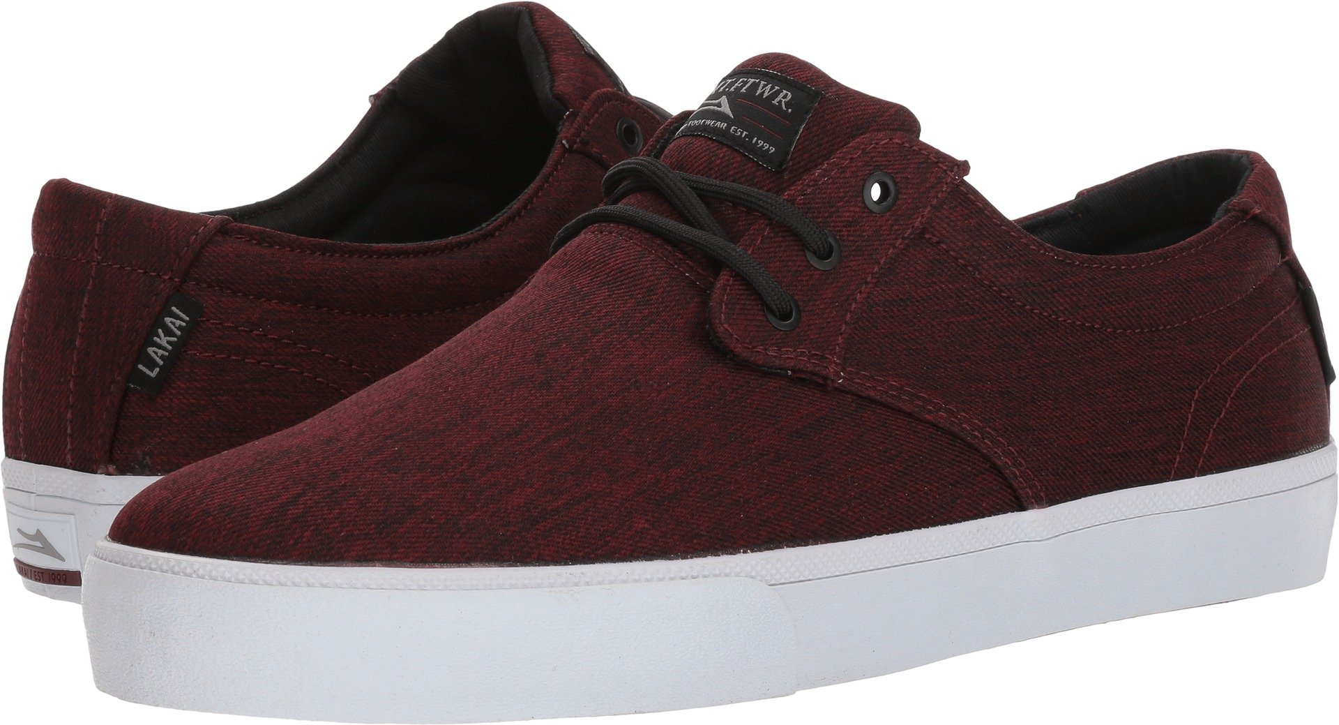 Lakai Daly, Burgundy Textile, 12 Medium US