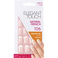 Elegant Touch Natural French Nails, 106 Medium-Pink