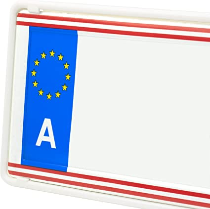 Eurosnap - Juego de 2 soportes para matrícula de coche, incluye ...