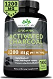 [NEW!] Organic Activated Charcoal capsules | 1200mg highly absorbent Helps alleviate gas & bloating Promotes natural detoxification Derived from coconut shells - 100 vegan capsules