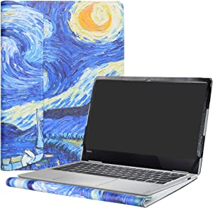 """Alapmk Protective Case Cover For 13.3"""" Lenovo Yoga 730 13 730-13IKB 730-13IWL & Yoga C630 WOS & ThinkBook 13s 13s-IWL Laptop(Note:Not fit Yoga 730 15/Yoga 720/yoga chromebook c630 Series),Starry Night"""
