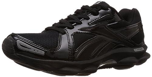 4c4d20b3aa3 Reebok Men s Runtone Doheny Trend Black and Silver Running Shoes - 13 UK