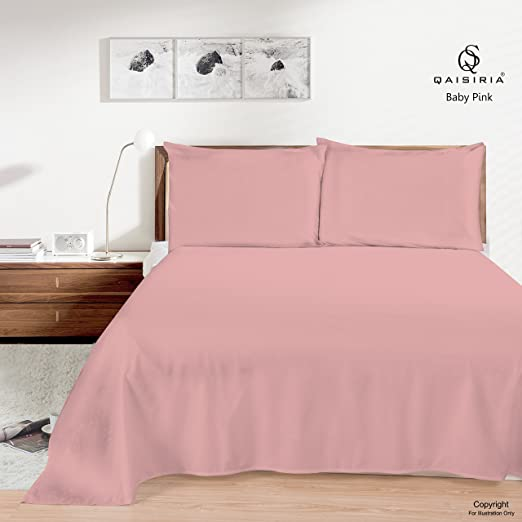 Plain Dyed Percale Flat Bed Sheet Or Pillow Case Polly//cotton Non Iron All Sizes
