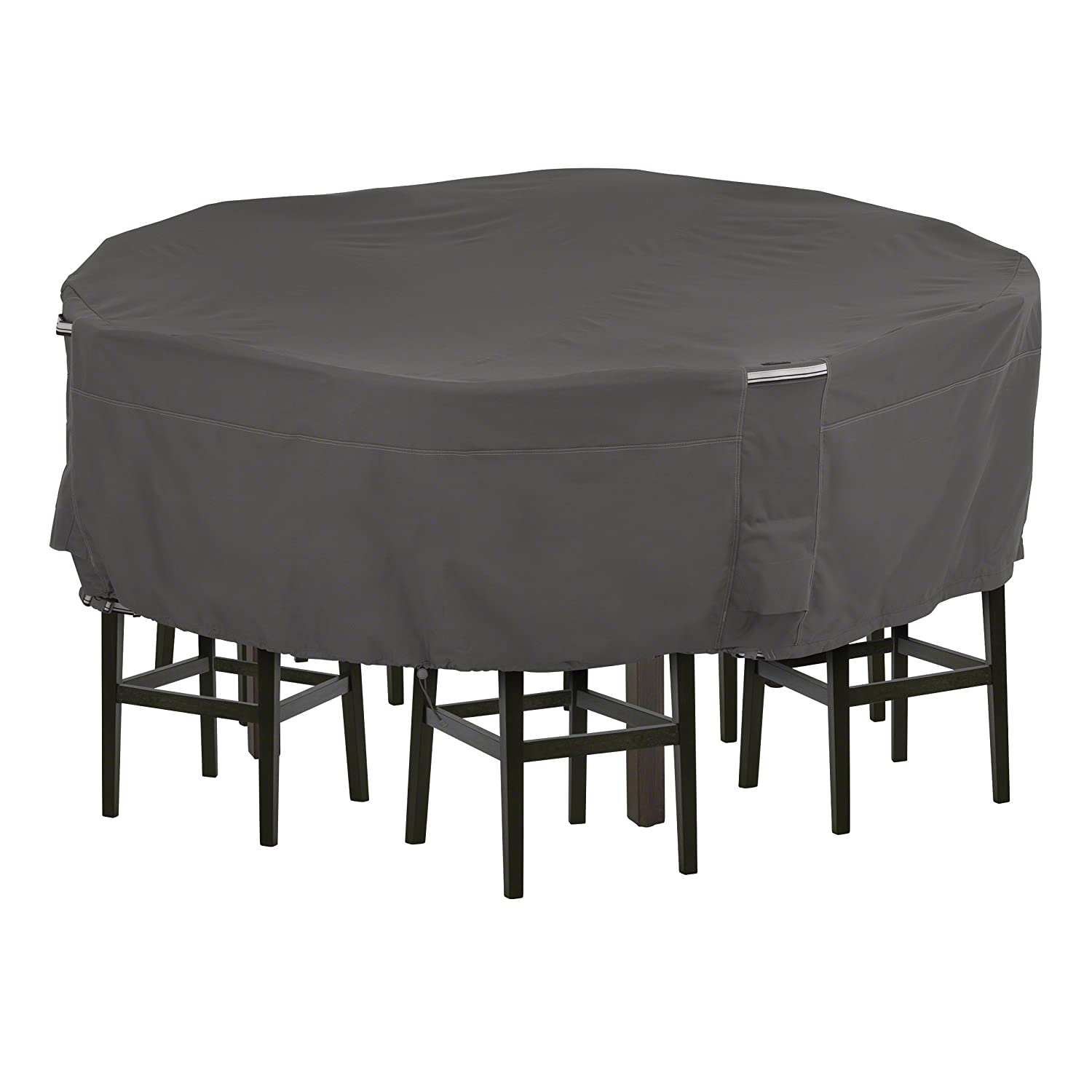 Classic Accessories Ravenna Tall Round Patio Table Chairs Cover, Large