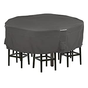 Classic Accessories Ravenna Tall Round Patio Table & Chairs Cover, Medium