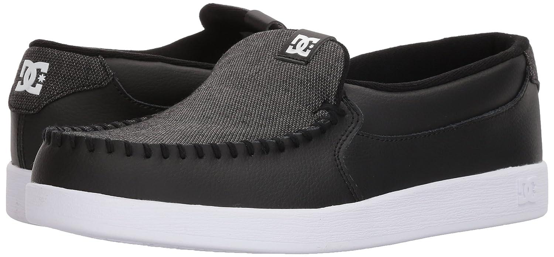 d6ae984afa00d Zapatillas de skate hombre DC Villain TX Slip-on Negro   Blanco   Negro