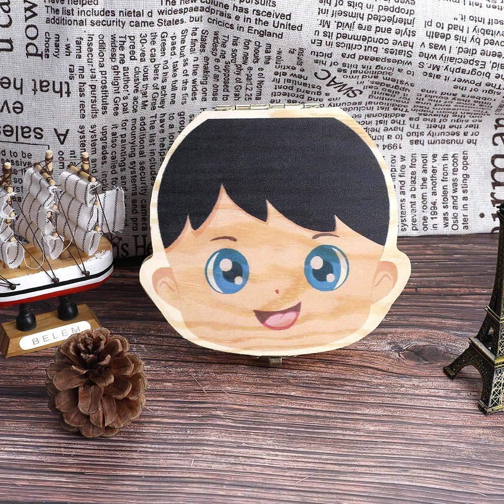 Caja De Almacenamiento Xinan Caja De Dientes De Leche De Madera Organizador Para El Beb/é Ni/ña Espa/ñol