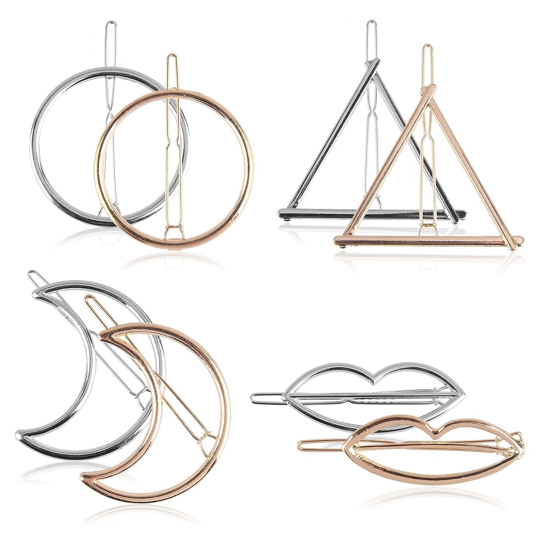 Bewish Womens Fashion Hollow Geometric Metal Hairpin Hair Clip Hair Accessory JRK03
