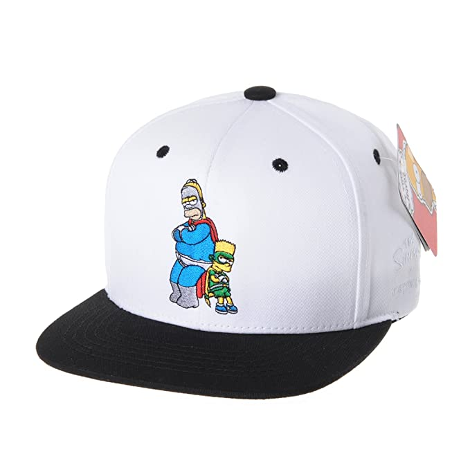 WITHMOONS The Simpsons Baseball Cap Superman Snapback Hat HL2657 (White) da07bb045e88