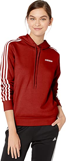 adidas girls' fleece 3-stripe hoodie