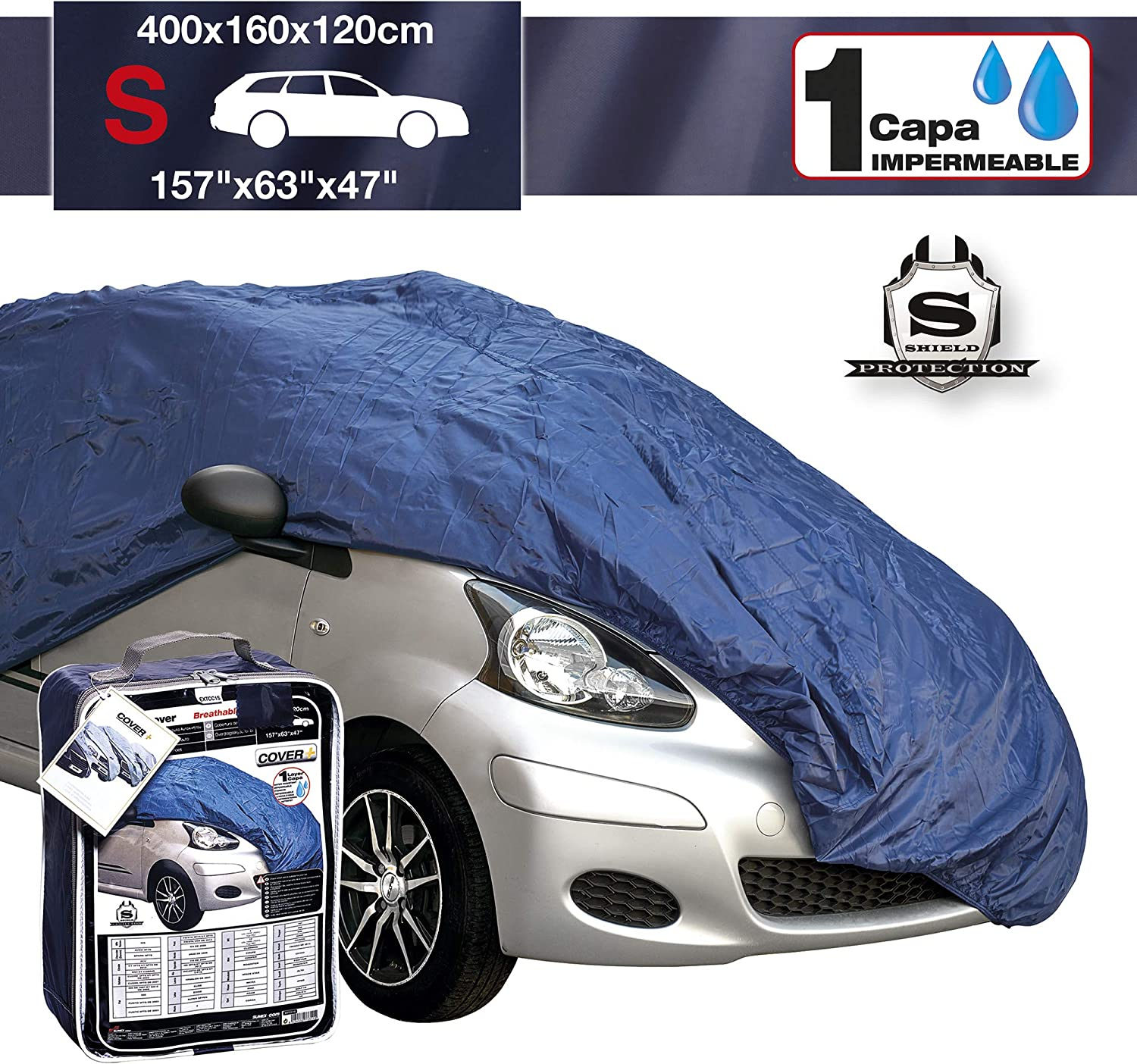 Breathable /& Water Resistant Outdoor /& Indoor Full Car Cover to fit Skoda Citigo