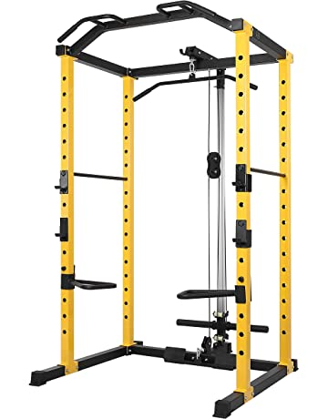 cf3fc2a4b236c HulkFit 1000-Pound Capacity Multi-Function Adjustable Power Cage with  J-Hooks
