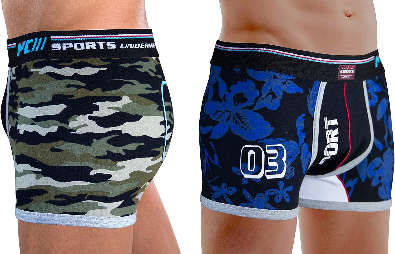 M.Conte Herren Boxershorts 2er Pack Retroshorts f/ür Herren Trunks Shorts Unterw/äsche Underwear sportunterhosen f/ür Herren Mehrpack S M L XL XXL