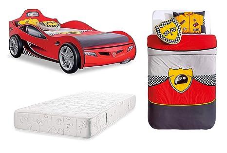 Letto A Forma Di Auto Da Corsa : Dafnedesign letto a forma di auto da corsa di colore rosso