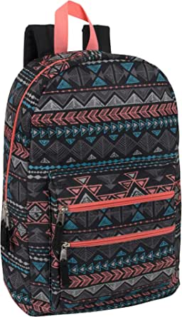 18 Inch Canvas Backpack with Multiple Pockets and Padded Straps - For Boys, Girls, Men, and Women
