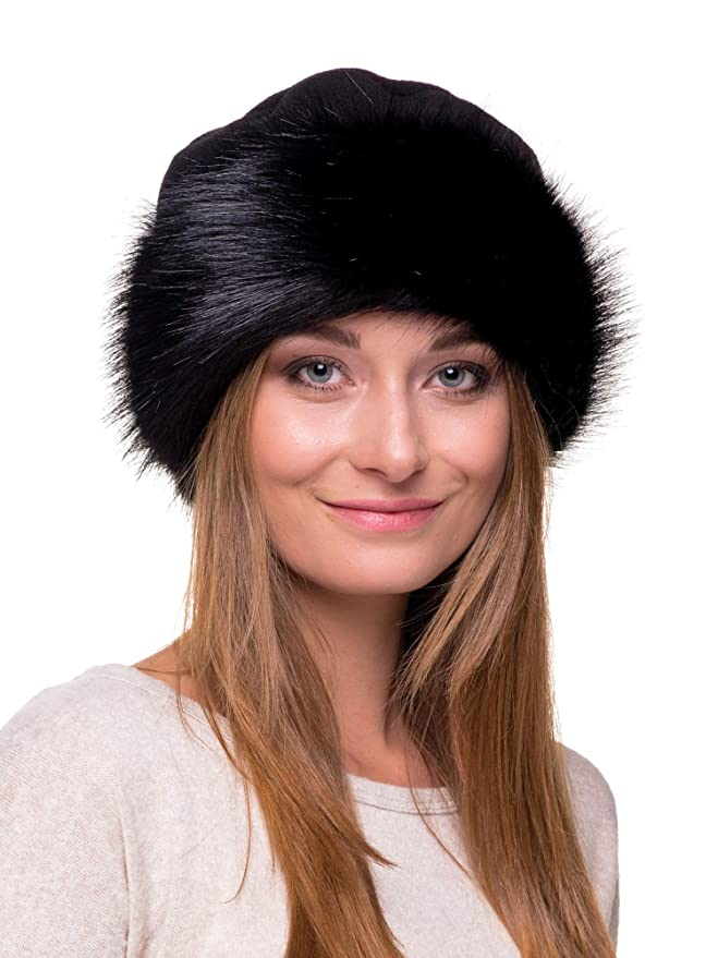 699fd07876a Futrzane Faux Fur Hat with Fleece Winter Ladies Women at Amazon Women s  Clothing store