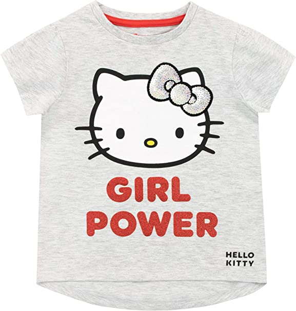 New Girls Hello Kitty T Shirt Top  Hello Kitty T-shirt  Age 3-10 Years