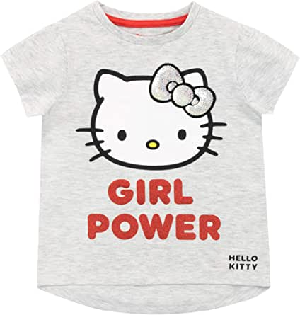 Hello Kitty Camiseta de Manga Corta para niñas: Amazon.es: Ropa y accesorios