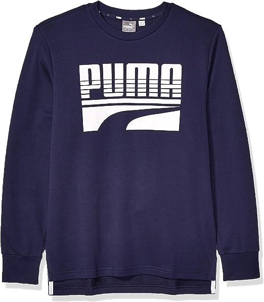 PUMA Herren Rebel Bold Crew French Terry Sweatshirt: Amazon