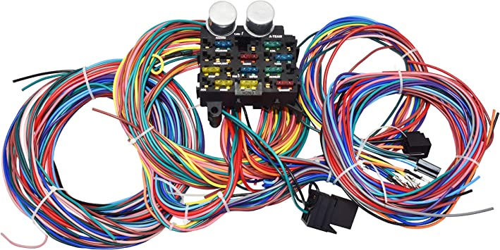 Amazon.com: A-Team Performance 12-Circuit Standard Universal Wiring Harness  Kit Muscle Car Hot Rod Street Rod XL Wire Cable: AutomotiveAmazon.com