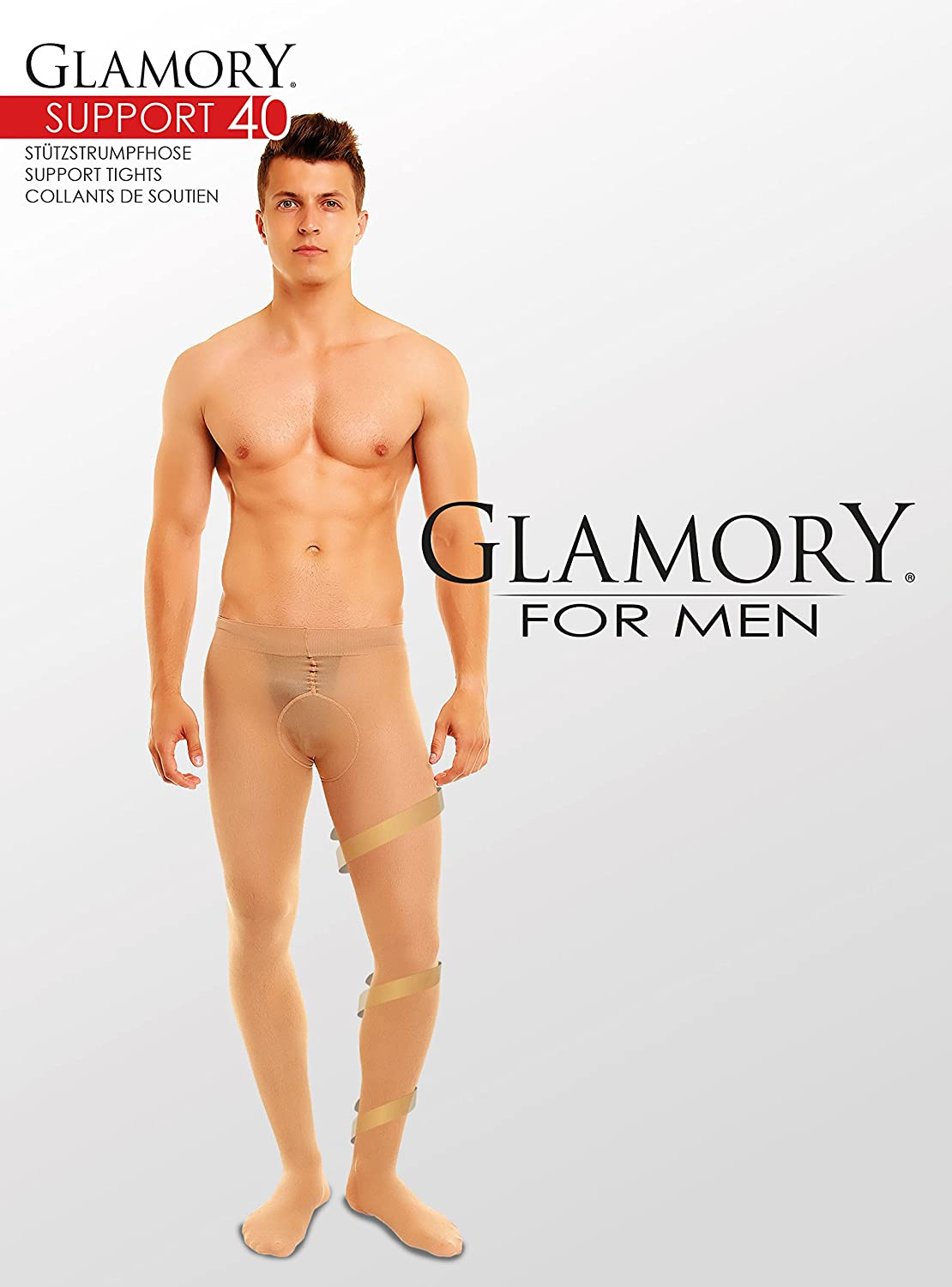 3fa4501ad7 GLAMORY Support 40 Men Support Tights Plus Size at Amazon Men's Clothing  store: