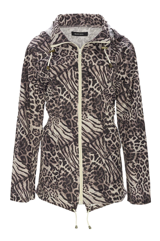 Ladies Kagool Rain Jacket Brave Soul Womens Camo Coat Hooded Leopard Fish  Tail: Amazon.co.uk: Clothing