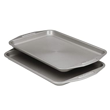 Circulon 57893 Total Bakeware Set Nonstick Cookie Baking Sheets, 2 Piece, Gray