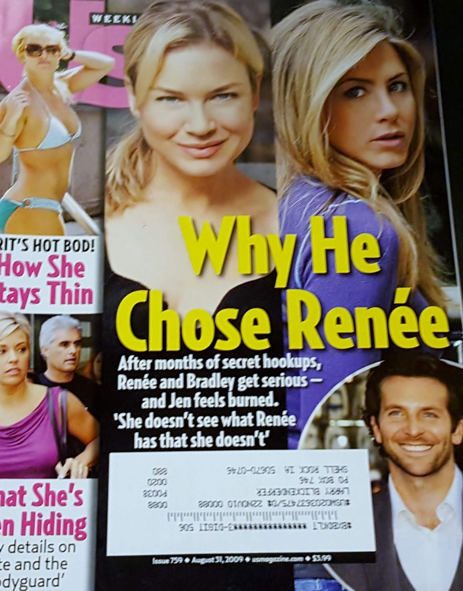 Download Us Weekly Magazine August 31 2009 Renee Zellwegger & Jennifer Aniston on Cover, Bradley Cooper, Britney Spears' Hot Bod - How She Stays Thin, Kate Gosselin & the Bodyguard pdf epub