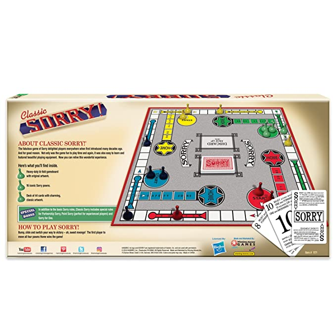 Amazon Winning Moves Games Sorry Classic Edition Board Game