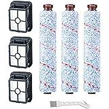 RONGJU 3 Packs Multi-Surface Brush Rolls 1868 + 3 Packs Vacuum Filters 1866 for Bissell CrossWave Vacuum Cleaner…
