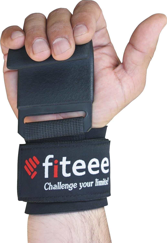 Schwarz Paar Fiteee Pulling Aids Unisex Krafttraining Gewichtheben Handgelenkst/ütze