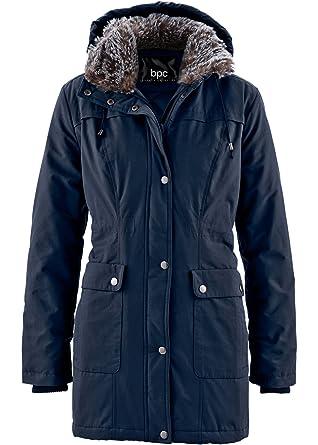 bpc bonprix collection Damen Mantel mit Tunnelzug und Kapuze