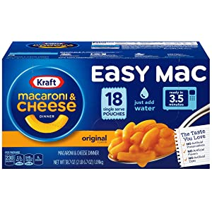 Kraft Easy Mac & Cheese Microwaveable Cups (6.7oz Cups, Pack of 18)