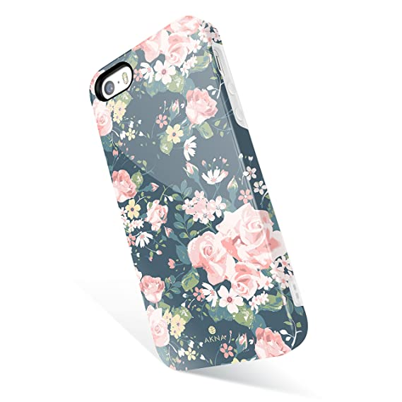 newest 44f77 633b5 iPhone 5 / 5s /SE case Vintage Floral, Akna Get-It-Now Collection High  Impact Flexible Silicon Cover for iPhone5/5s/SE (342-US)