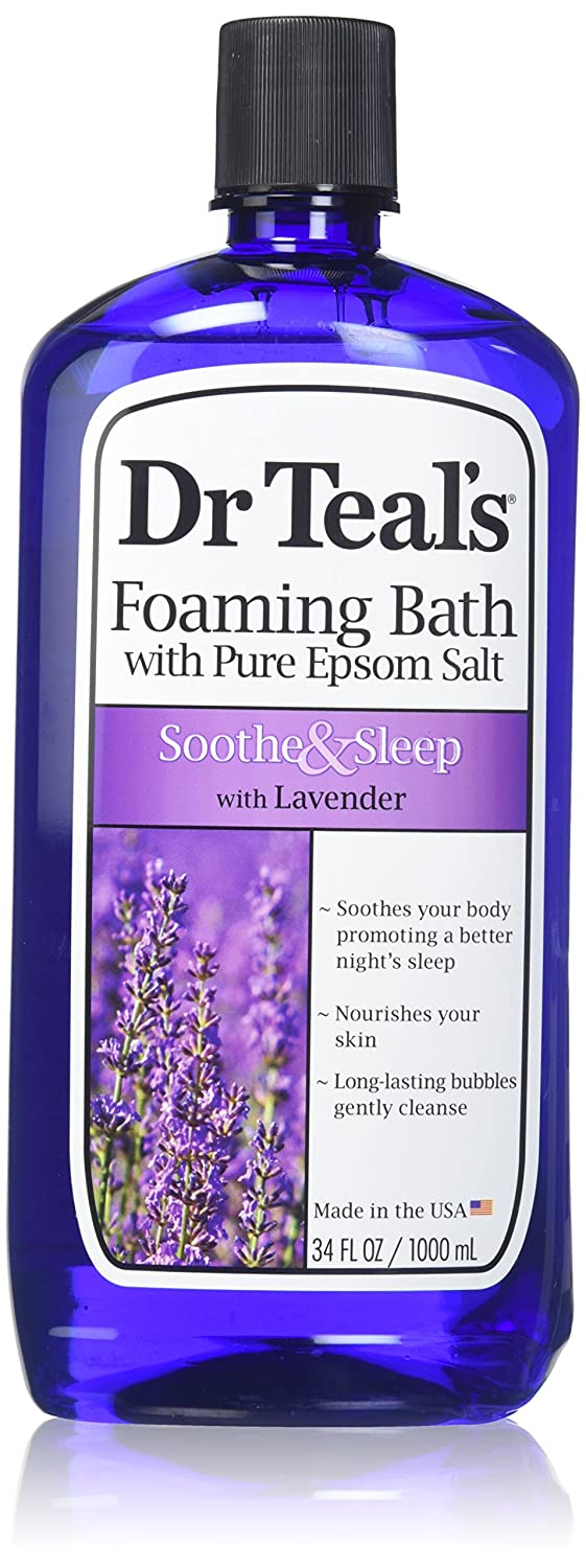 Dr. Teal's Foaming Bath, Lavender, 34 Fluid Ounce,Pack of 2 Dr. Teal' s Foaming Bath Dr Teal' s