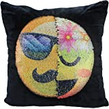 Reversible Sequin Mermaid Pillow Case, USONG Emoji Changeable Face Cushion Cover Pillow Cases Decorative Pillowcase for Sofa Home Decor DIY (Gentleman and lady)