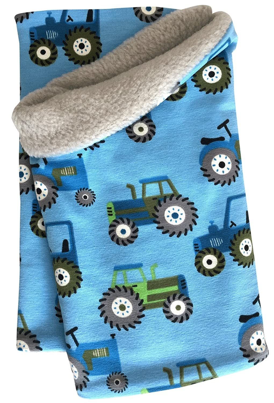 Wollhuhn - Bufanda - para niño azul Traktor / Trecker hellblau Talla única