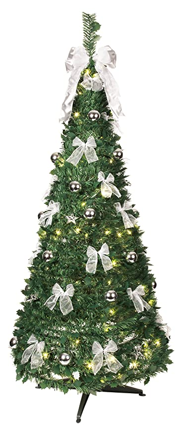 Alberi Di Natale Decorati Foto.Best Season Albero Di Natale Decorato Con Luci Led Amazon