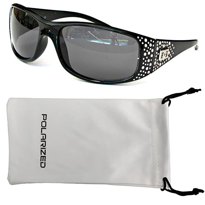 499bcb8b5d5b3 Image Unavailable. Image not available for. Color  Vox Women s Polarized  Sunglasses Designer Fashion Eyewear w  Microfiber Pouch (BLACK)