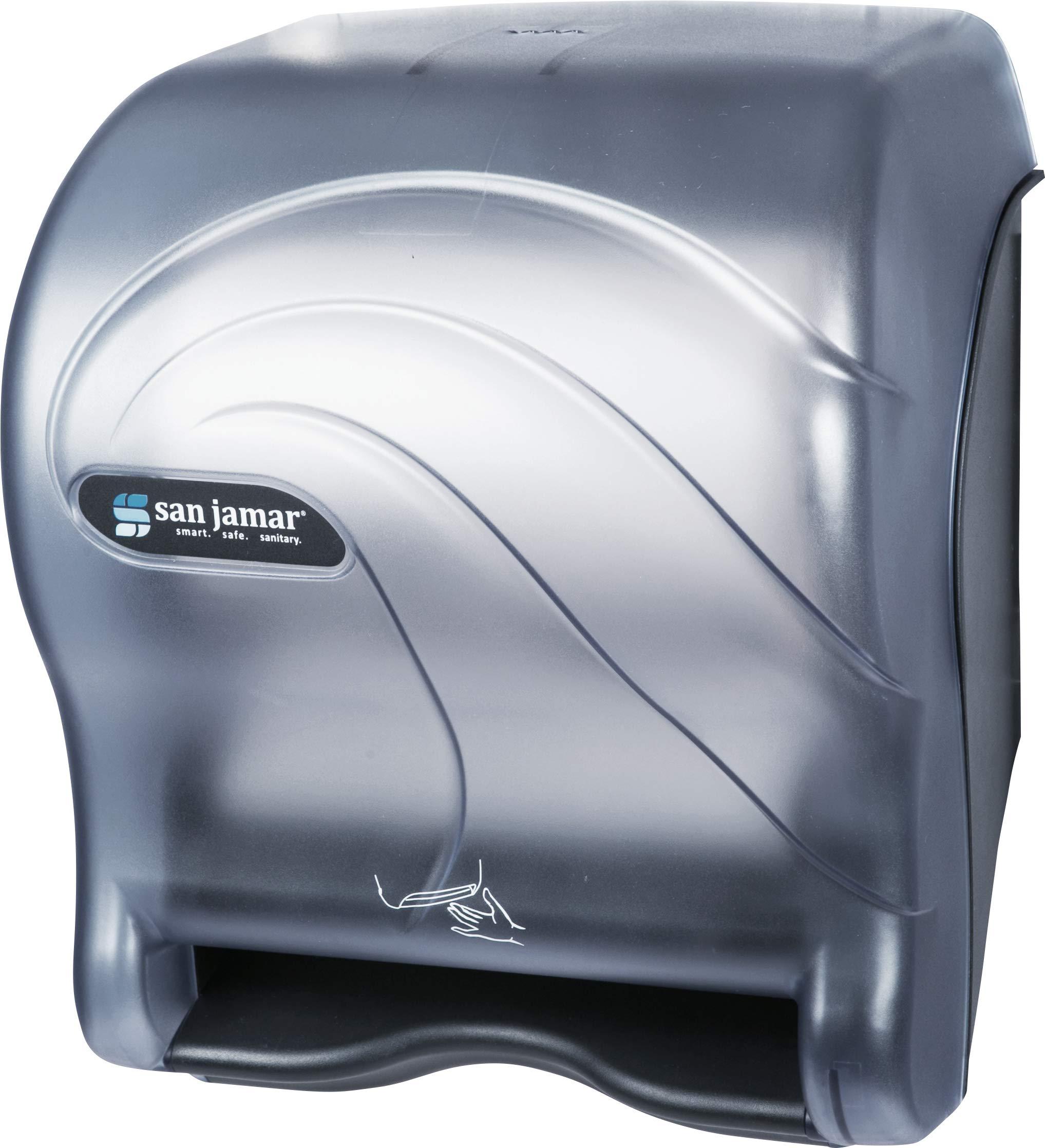 San Jamar T8490TBL Smart Essence Oceans Hands Free Paper Towel Dispenser, Arctic Blue