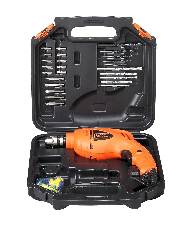 BLACK + DECKER HD400KA50 Impact Drill Kit (Orange, Pack of 50)