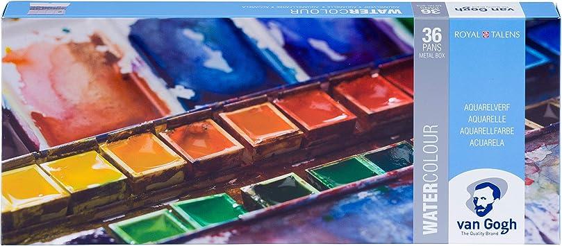 VAN GOGH 36 näpfe Fine aquarelle couleurs du bleu métal encadré NEUF ET Neuf dans sa boîte