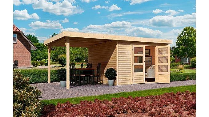 Karibu - Jardín Hogar » Arnis 2 « con lateral schlepp techo (aprox. 220 cm de ancho), color natural: Amazon.es: Jardín