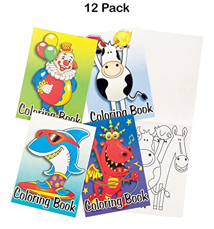 Amazon.com: Mini Coloring Books For Kids - Pack Of 12 - 6 Pages Each ...