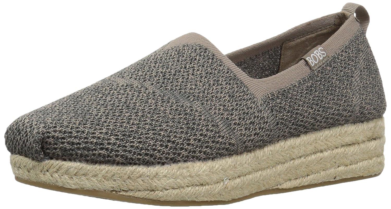 Skechers BOBS from Women's Highlights-Get Knitty Flat B01N5O5OJI 6 B(M) US|Taupe Multi