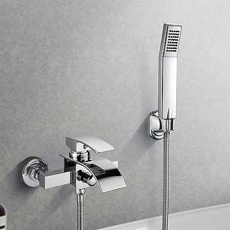 WOOHSE Mezclador Monomando para bañera y ducha, grifo ducha con ...